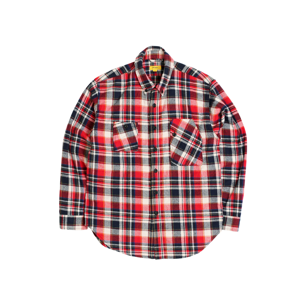 FLANNEL PLAID TEDDY SHIRT [RED]