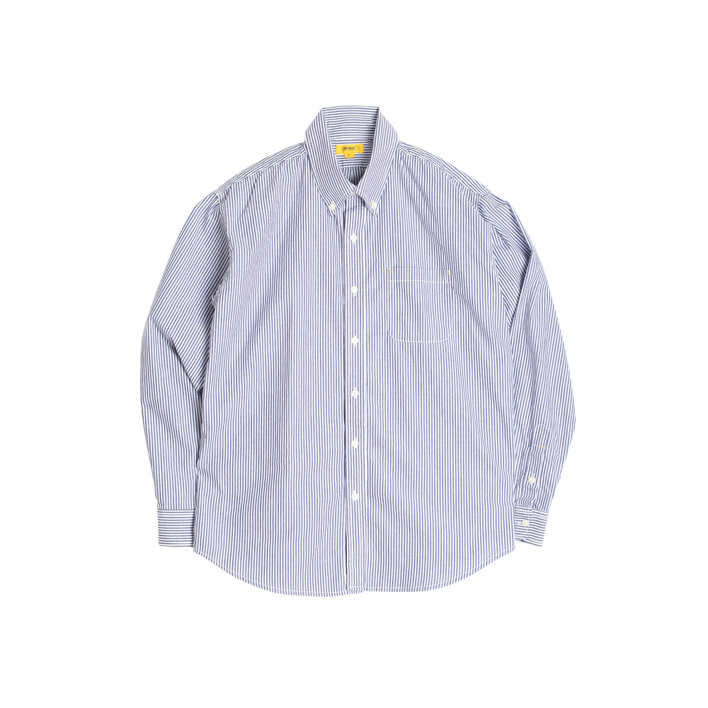 CRISPY B.D SHIRT [NAVY STRIPED]