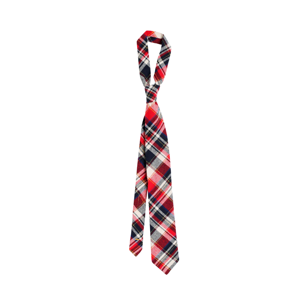 FLANNEL PLAID TIE [RED]