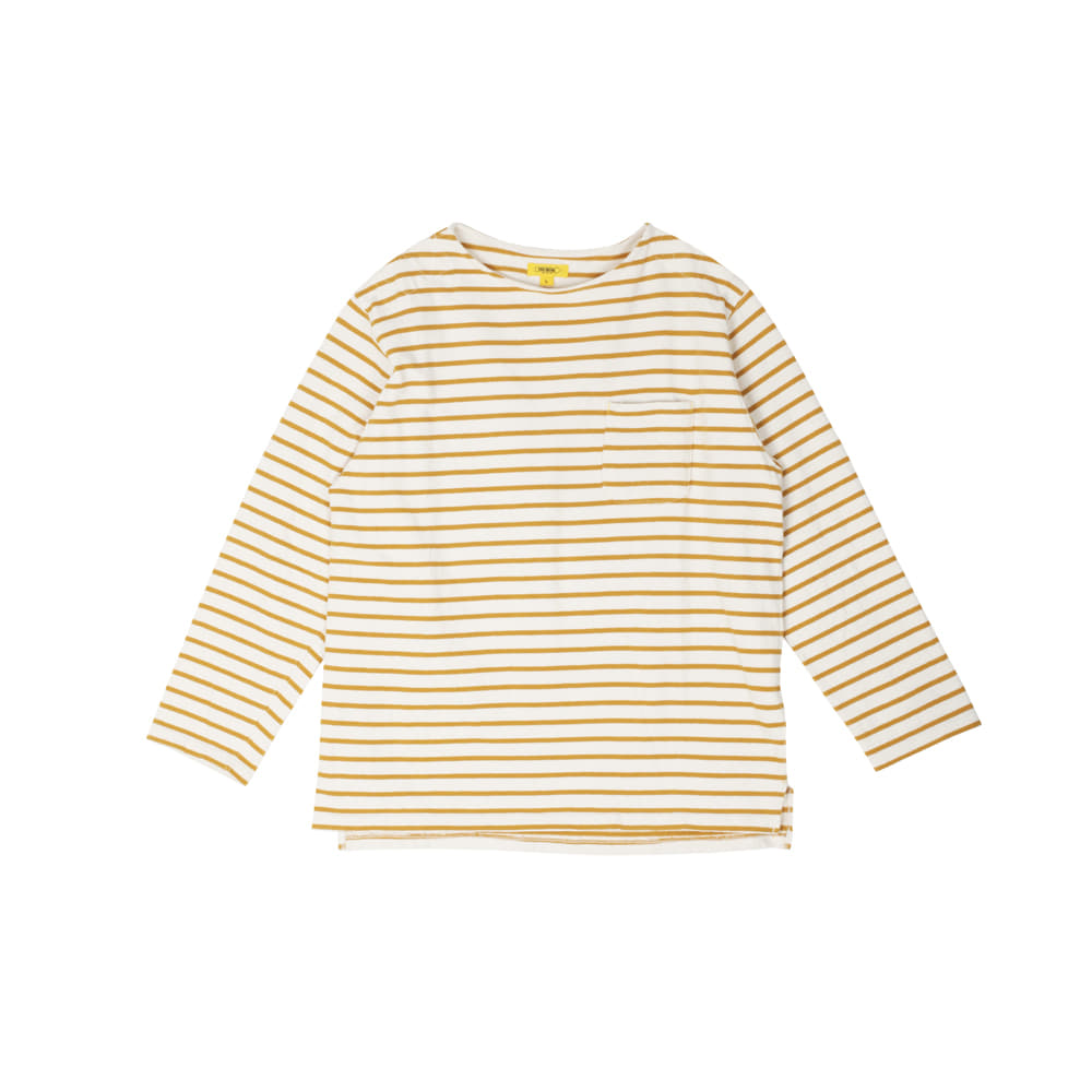 POP STRIPED L/S TEE [YELLOW]