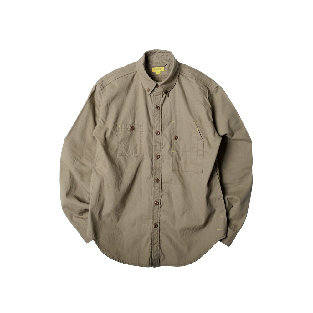 FLANNEL OXFORD TEDDY SHIRT [KHAKI]