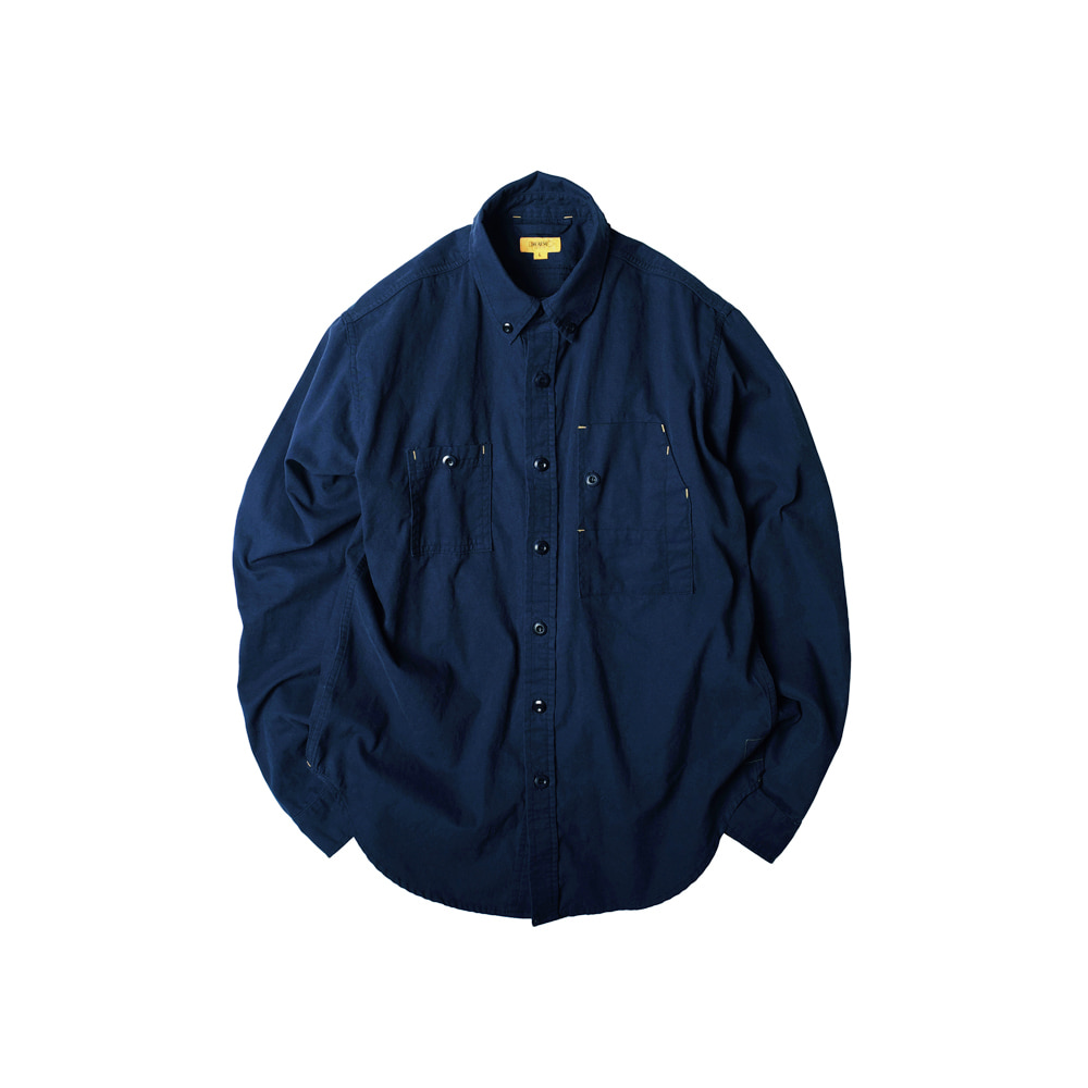 FLANNEL OXFORD TEDDY SHIRT [NAVY]