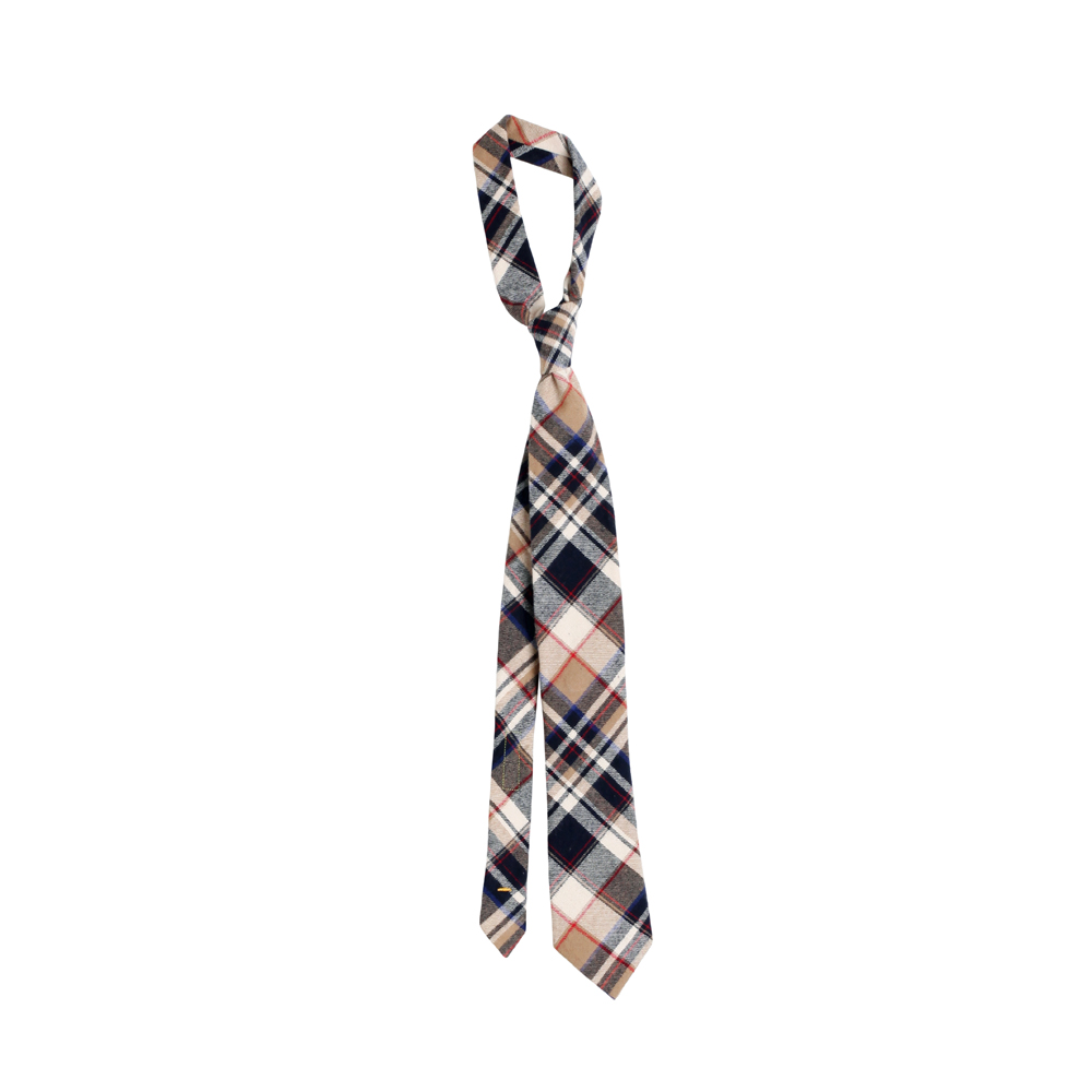FLANNEL PLAID TIE [BEIGE]