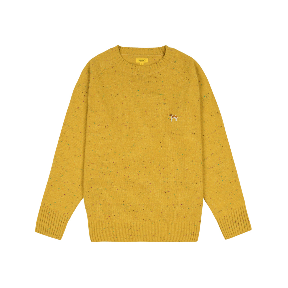 BARRY EMBROIDERY SWEATER [CORN YELLOW]