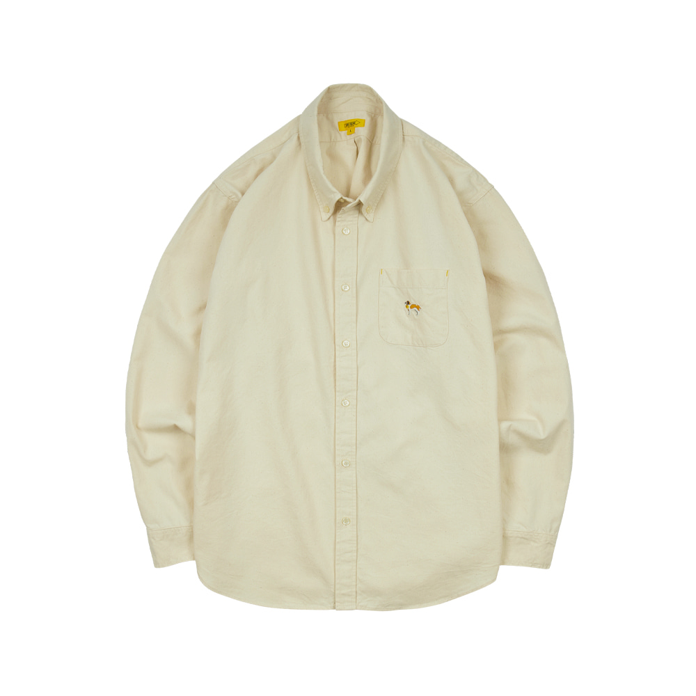 EMBROIDERY OXFORD SHIRT [OLD WHITE]