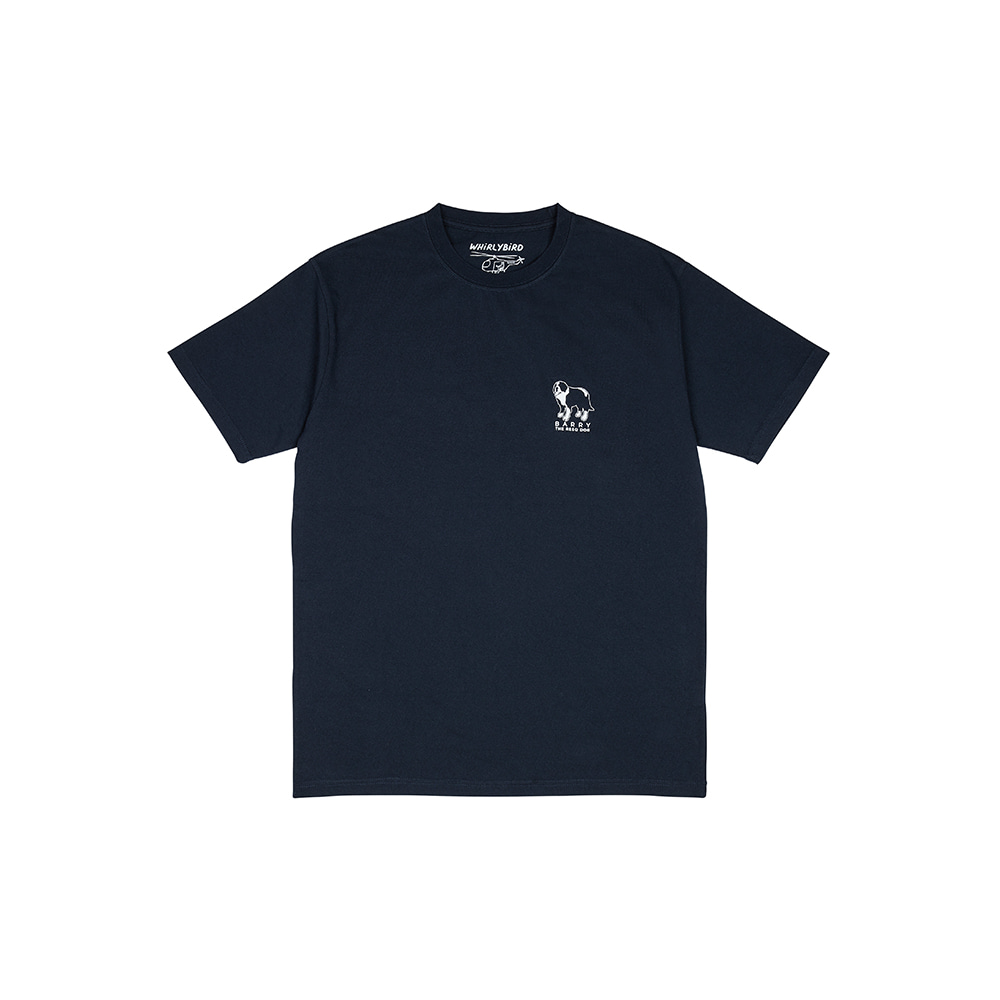 RESQ DOG BARRY TEE [NAVY]