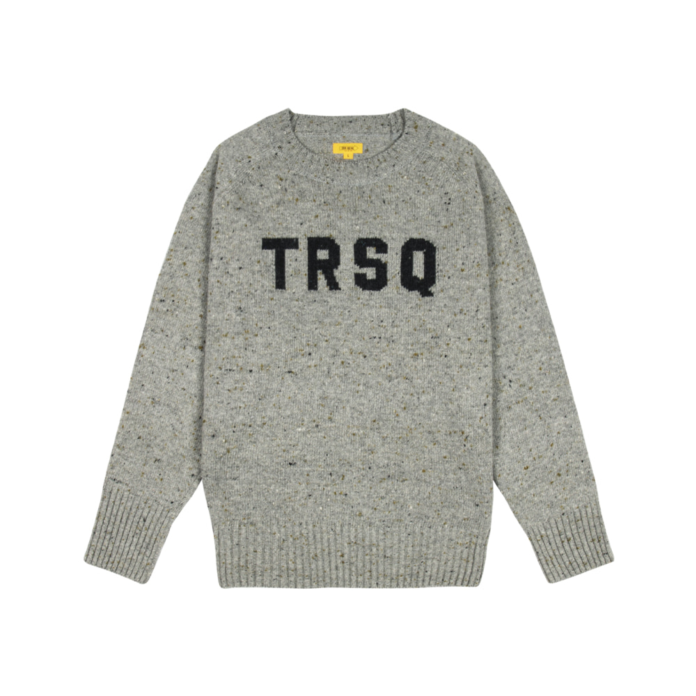 LOGO JACQUARD SWEATER [GREY]