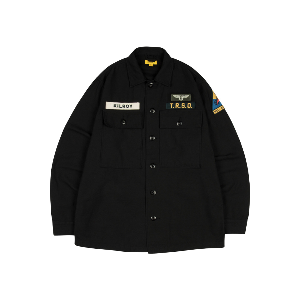 KILROY PATCH SHIRT [JET BLACK]