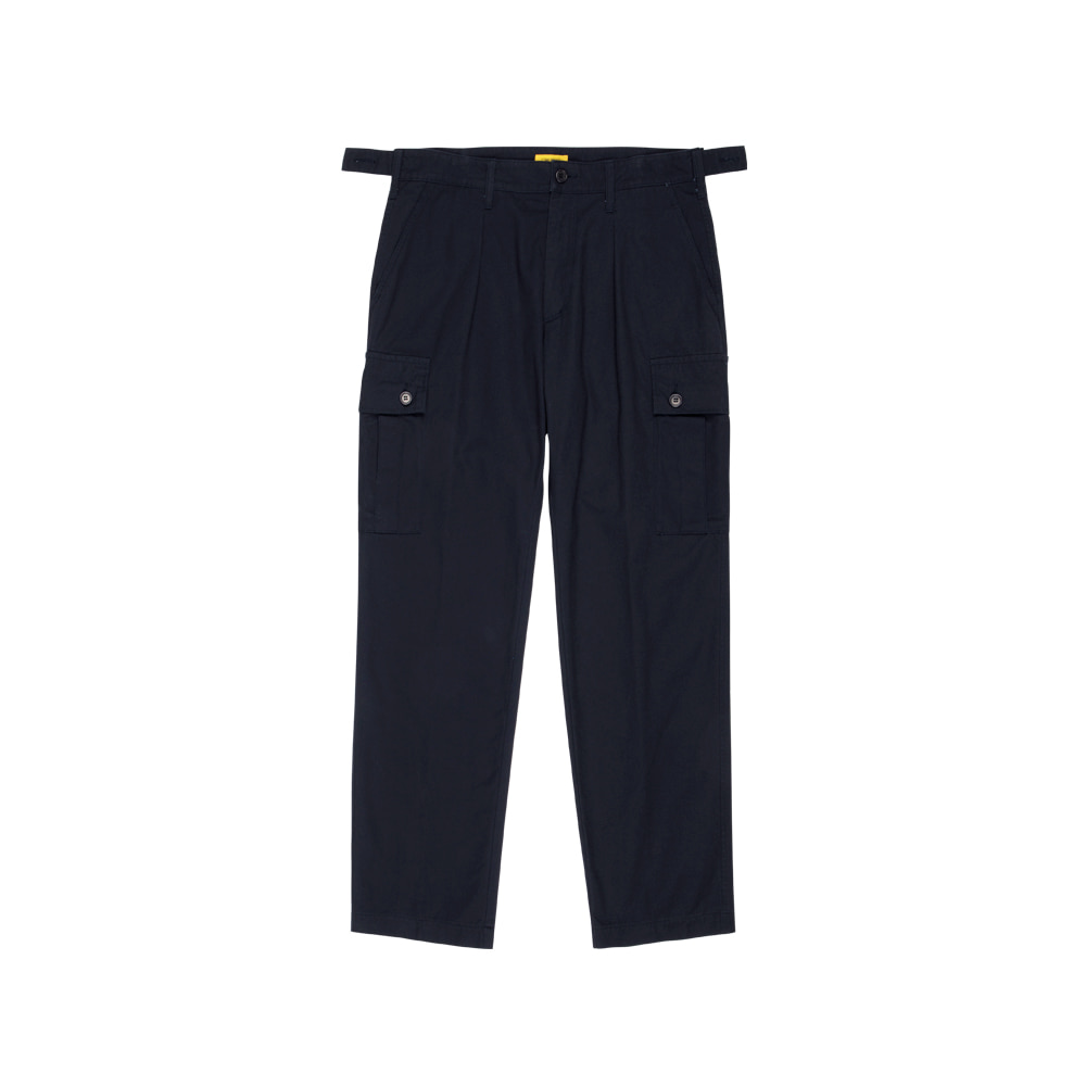 SEOKIA CARGO SLACKS (BIO WASHED COTTON) [NAVY]