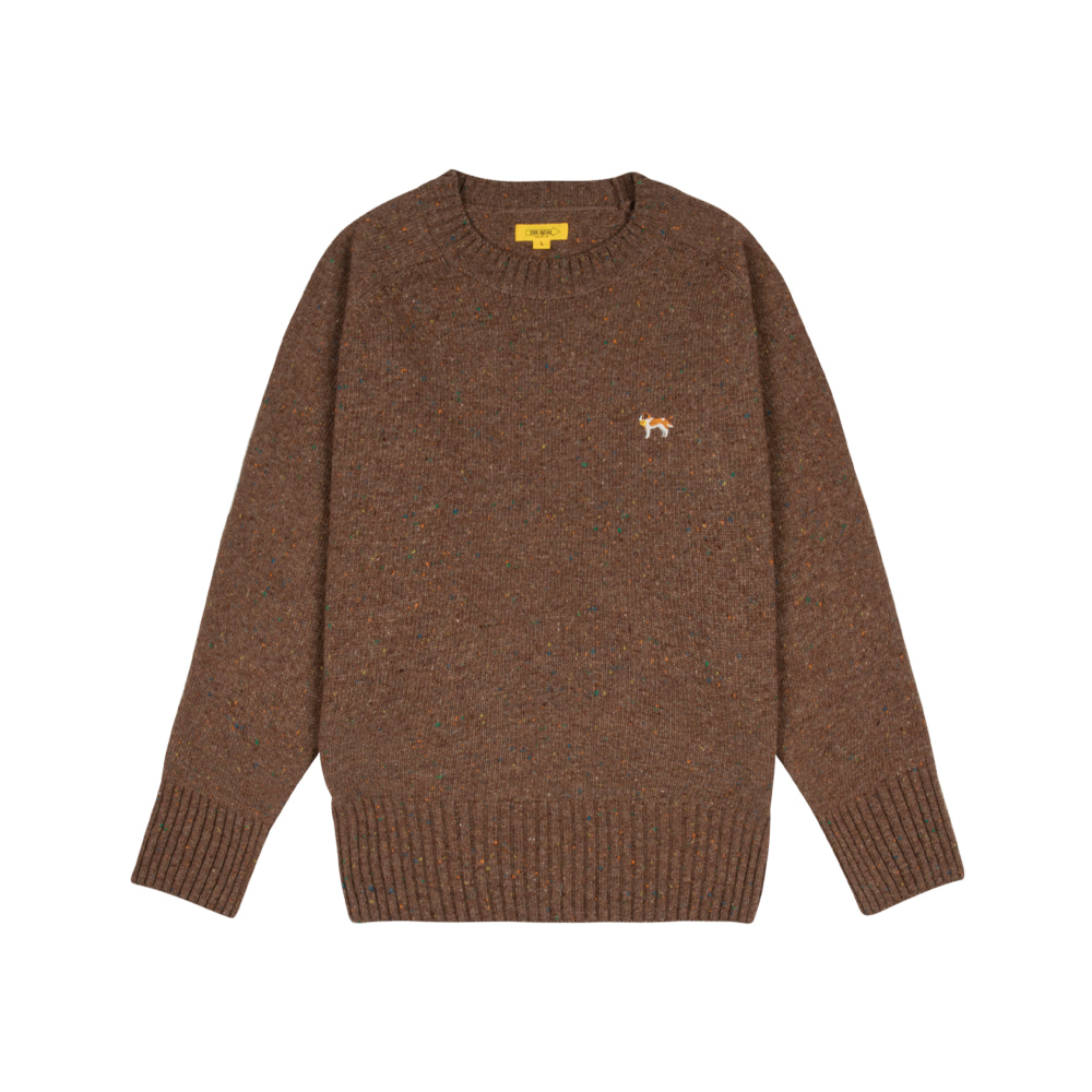 BARRY EMBROIDERY SWEATER [TOBACCO BROWN]