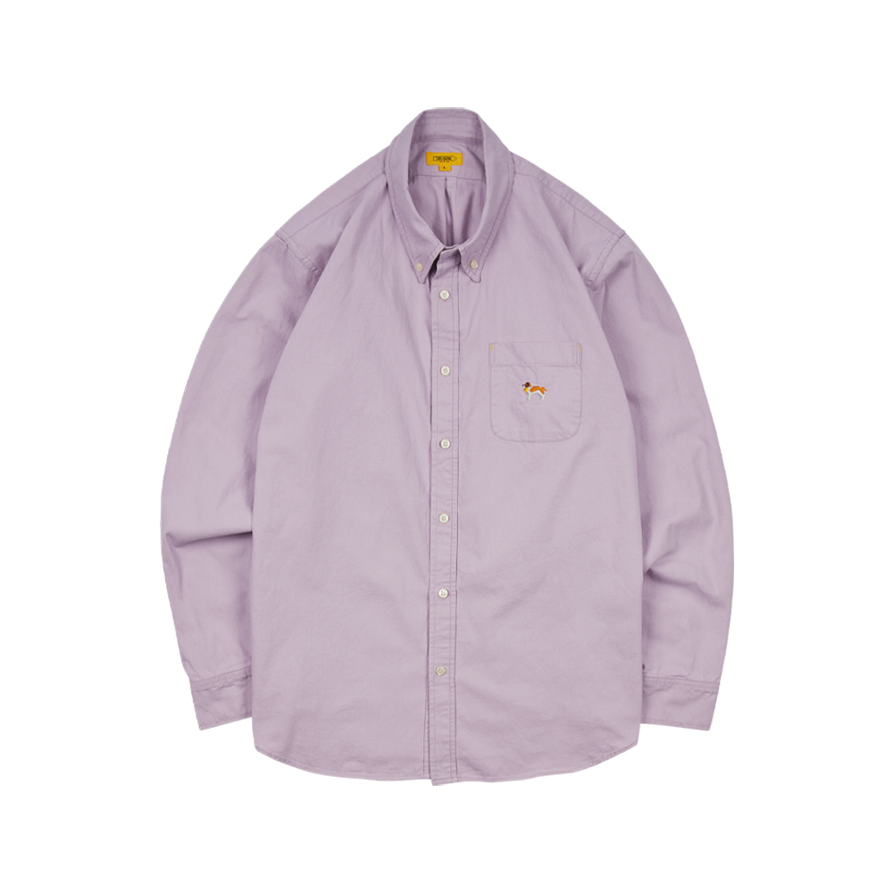 EMBROIDERY OXFORD SHIRT [WASHED PURPLE]