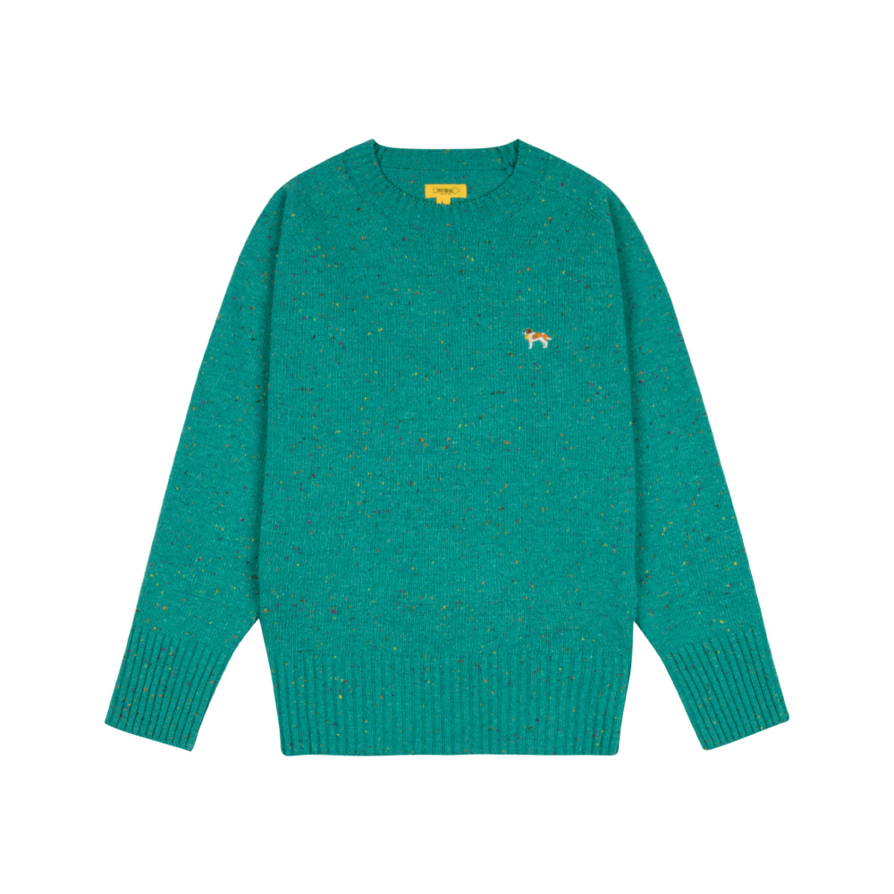 BARRY EMBROIDERY SWEATER [TURQUOISE BLUE]