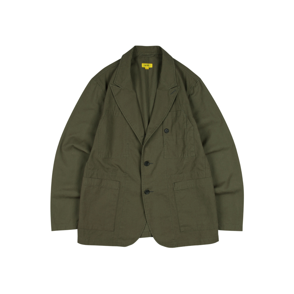 SEOKIA JACKET (BIO WASHED COTTON) [OLIVE DRAB]