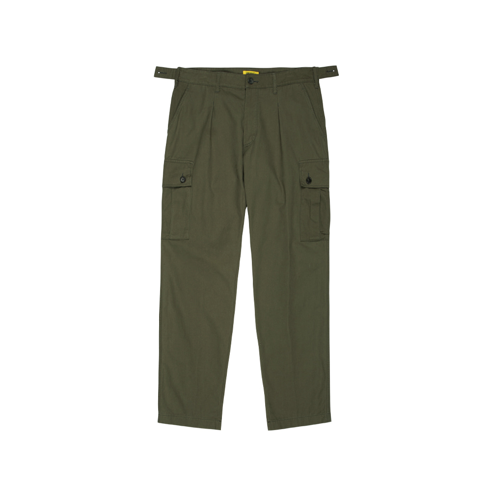 SEOKIA CARGO SLACKS (BIO WASHED COTTON) [OLIVE DRAB]