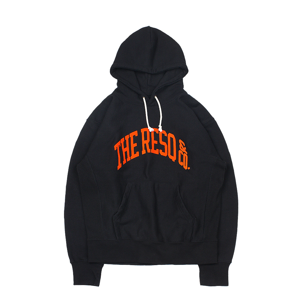 BALLGAME HOODIE [BLACK-FLOCKING ORANGE]