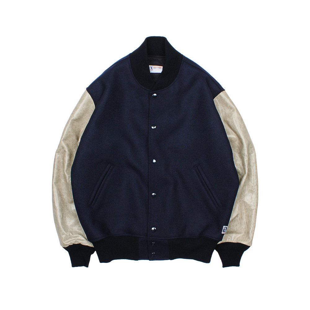 BALLGAME JACKET [NAVY-SHEEPSKIN SLEEVES]