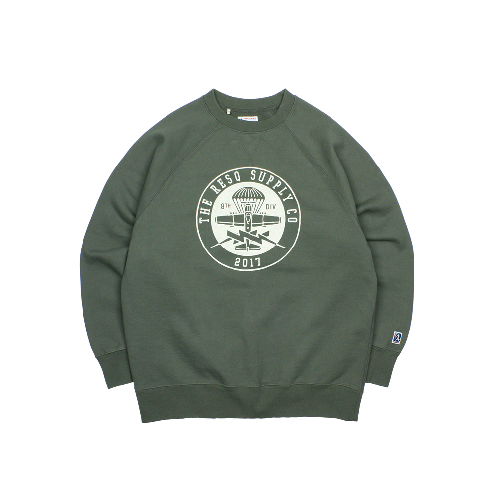 BALLGAME SWEATSHIRT [DUSTY KHAKI-SEAL LOGO]